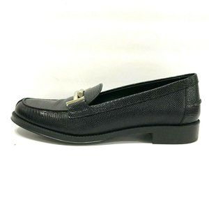 TOD'S Lizard-Effect Leather Loafers Black Leather